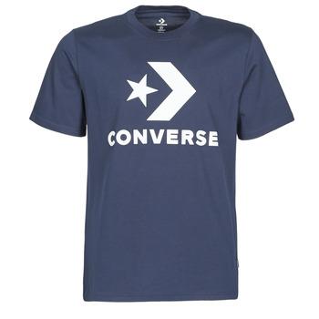 textil Herr T-shirts Converse STAR CHEVRON TEE Blå