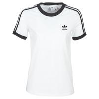 textil Dam T-shirts adidas Originals 3 STR TEE Vit