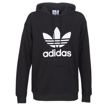 textil Dam Sweatshirts adidas Originals TRF HOODIE Svart