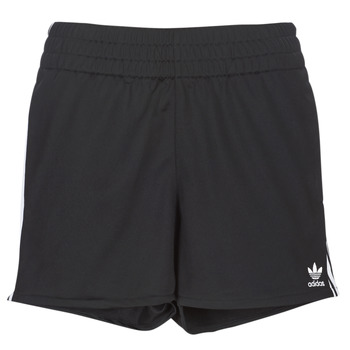 textil Dam Shorts / Bermudas adidas Originals 3 STR SHORT Svart