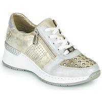 Skor Dam Sneakers Rieker LEA Guldfärgad / Silver