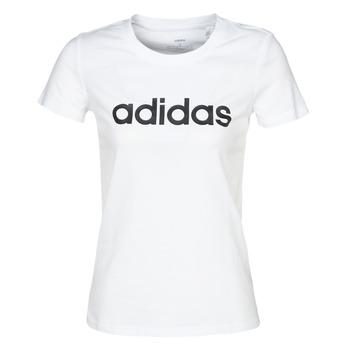 textil Dam T-shirts adidas Performance E LIN SLIM T Vit
