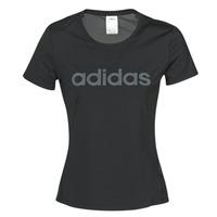 textil Dam T-shirts adidas Performance D2M LO TEE Svart