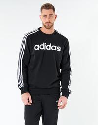 textil Herr Sweatshirts adidas Performance E 3S CREW FL Svart