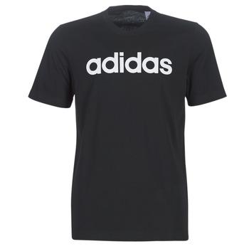 textil Herr T-shirts adidas Performance E LIN TEE Svart
