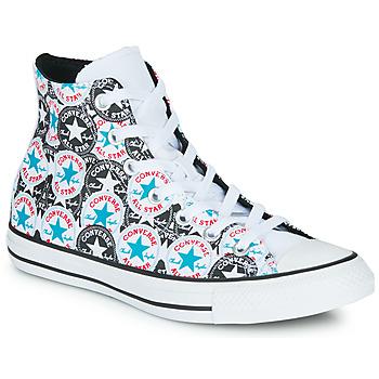 Skor Dam Höga sneakers Converse Chuck Taylor All Star Logo Play Vit / Svart / Flerfärgad