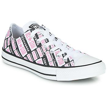 Skor Dam Höga sneakers Converse CHUCK TAYLOR ALL STAR LOGO PLAY Vit / Rosa / Svart