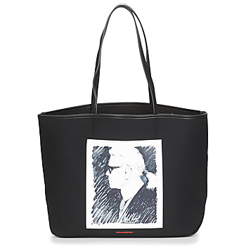 Väskor Shoppingväskor Karl Lagerfeld KARL LEGEND CANVAS TOTE Svart