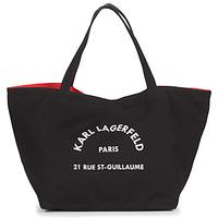 Väskor Dam Shoppingväskor Karl Lagerfeld RUE ST GUILLAUE CANVAS TOTE Svart