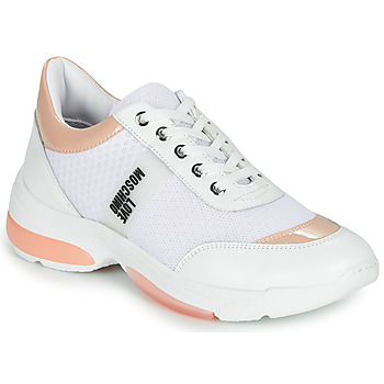 Skor Dam Sneakers Love Moschino RUN LOVE Vit / Rosa