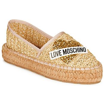 Skor Dam Espadriller Love Moschino JA10393G0A Beige