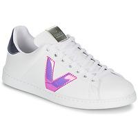 Skor Dam Sneakers Victoria TENIS VINILO Vit / Blå