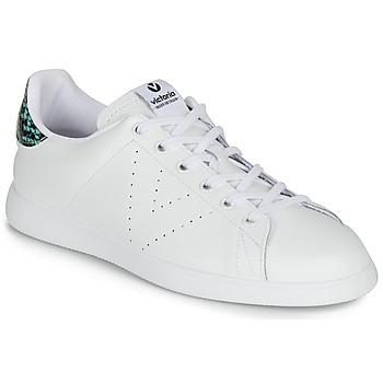 Skor Dam Sneakers Victoria TENIS PIEL SERPIENTE Vit / Blå