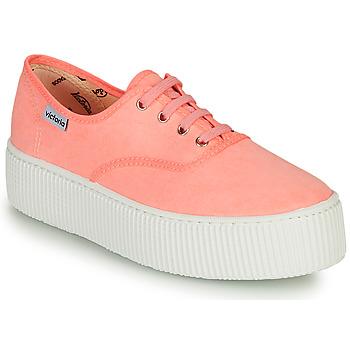 Skor Dam Sneakers Victoria DOBLE FLUO Korall