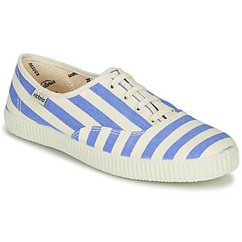 Skor Dam Sneakers Victoria NUEVO RAYAS Vit / Blå