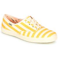 Skor Dam Sneakers Victoria NUEVO RAYAS Gul / Vit