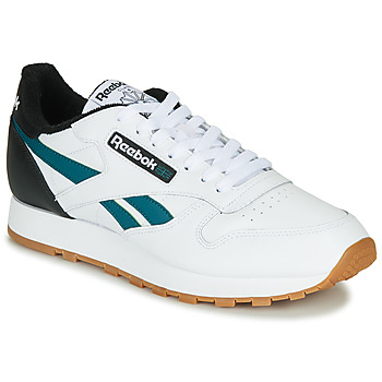 Skor Herr Sneakers Reebok Classic CL LEATHER MU Vit / Svart