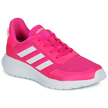 Skor Flickor Sneakers adidas Performance TENSAUR RUN K Rosa / Vit