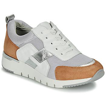 Skor Dam Sneakers Caprice BEBENE Vit / Kamel