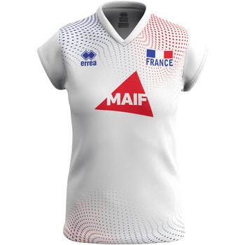 textil Dam T-shirts Errea Maillot femme extérieur Equipe de france 2020 blanc