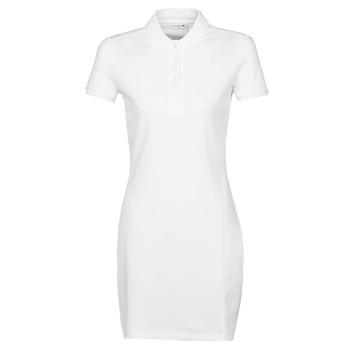 textil Dam Korta klänningar Lacoste EUGENIE Vit