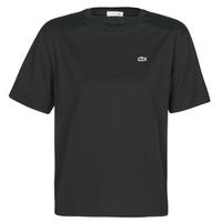 textil Dam T-shirts Lacoste  Svart