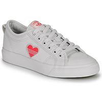 Skor Dam Sneakers adidas Originals NIZZA TREFOIL W Vit