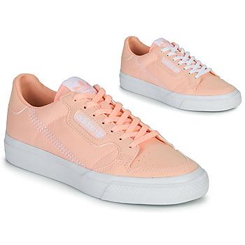 Skor Flickor Sneakers adidas Originals CONTINENTAL VULC J Rosa