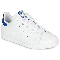 Skor Barn Sneakers adidas Originals STAN SMITH C Vit / Blå