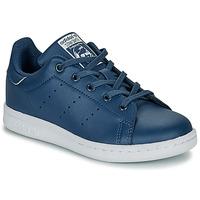 Skor Pojkar Sneakers adidas Originals STAN SMITH C Blå