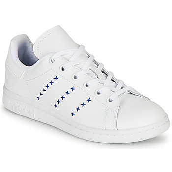 Skor Barn Sneakers adidas Originals STAN SMITH J Vit / Blå