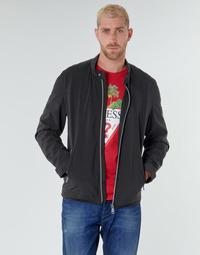 textil Herr Vindjackor Guess CUMMUTER JACKET Svart