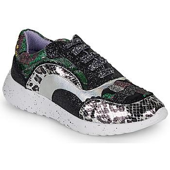 Skor Dam Sneakers Irregular Choice JIGSAW Svart / Silverfärgad