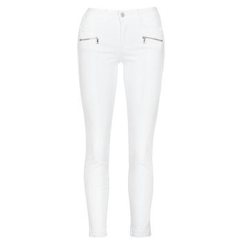 textil Dam Skinny Jeans Le Temps des Cerises KIEV SKINY7/8 Vit