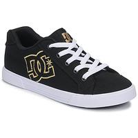 Skor Dam Sneakers DC Shoes CHELSEA TX Svart / Guldfärgad