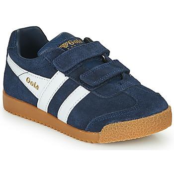 Skor Barn Sneakers Gola HARRIER VELCRO Marin