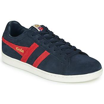 Skor Herr Sneakers Gola EQUIPE SUEDE Marin / Röd