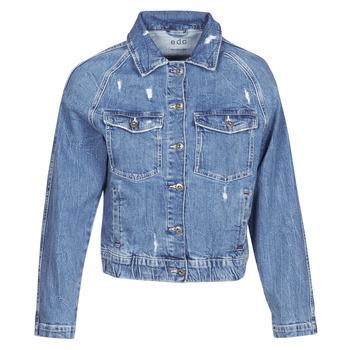 textil Dam Jeansjackor Esprit ESPRILA Blå