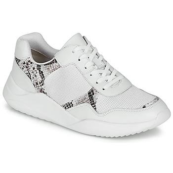 Skor Dam Sneakers Clarks SIFT LACE Vit / Ormfärgad