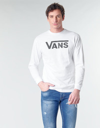 textil Herr Långärmade T-shirts Vans VANS CLASSIC Vit