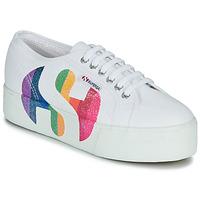 Skor Dam Sneakers Superga 2790-COTWPRINTEDLOGOGLITTER Vit