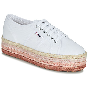 Skor Dam Sneakers Superga 2790-COTCOLOROPEW Vit / Rosa