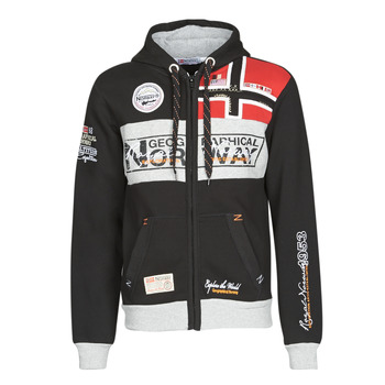 textil Herr Sweatshirts Geographical Norway FLYER Svart