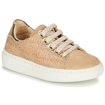 Skor Flickor Sneakers Shoo Pom FLASH ZIP LACE Beige