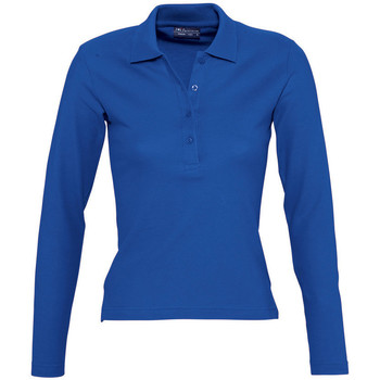 textil Dam Långärmade pikétröjor  Sols PODIUM COLORS Azul