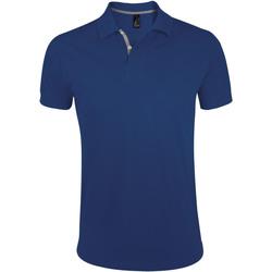 textil Herr Kortärmade pikétröjor Sols PORTLAND MODERN SPORT Azul