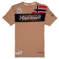 textil Pojkar T-shirts Geographical Norway JIDNEY Beige