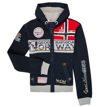 textil Pojkar Sweatshirts Geographical Norway FLYER Marin