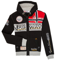 textil Pojkar Sweatshirts Geographical Norway FLYER Svart