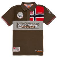 textil Pojkar Kortärmade pikétröjor Geographical Norway KIDNEY Kaki